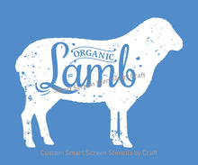 Load image into Gallery viewer, Farm Fresh Organic Lamb SilkScreen Stencil - Reusable, Self Adhesive - Canvas, Cards, Glass, Ceramic, Walls, Fabric, Wood, Metal, Tote-bags