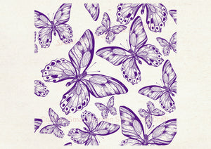 Custom Butterfly SmartScreen Stencil - Reusable, Self Adhesive - Canvas, Cards, Glass, Ceramics, Wall, Fabric, Wood, Metal, Clay, Plastic