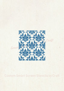 Custom French Country Silkscreen Stencil - Reusable, Adhesive - Canvas, Cards, Glass, Ceramic, Walls, Fabric, Wood, Plastic, Metal, Clay