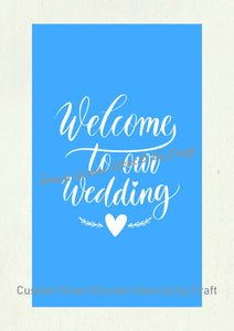 Welcome to our Wedding SmartScreen Stencil - Reusable, Self adhesive - Canvas, Cards, Glass, Ceramic, Walls, Fabric, Wood, Plastic, Metal