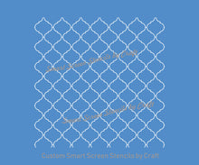 Load image into Gallery viewer, Custom Arabic Tile Pattern Silkscreen Stencil - Reusable, Adhesive - Canvas, Cards, Glass, Ceramic, Wall, Fabric, Wood, Metal, Plastic, Clay