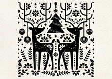 Load image into Gallery viewer, Reusable Nordic Christmas SilkScreen Stencil - Selfadhesive, Seamless - T-Shirts, Ceramics, Mirrors, Glass, Wood, Tote-bags, Fabric, Cards