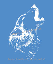 Load image into Gallery viewer, Howling Wolf SilkScreen Stencil - Reusable, Selfadhesive - Canvas, Cards, Glass, Ceramic, Wall, Fabric, Wood, Metal, Tote-bag, T-shirt