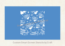 Load image into Gallery viewer, Happy Valentine's Day SmartScreen Stencil by Craft - Seamless, Reusable - Card, Glass, Ceramic, Canvas, Fabric, Wood, Plastic, Metal, etc