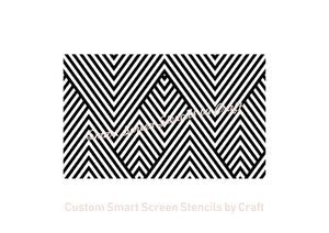 Abstract Diagonal Silkscreen Stencil - Reusable, Self adhesive - Canvas, Cards, Glass, Ceramics, Wall, Fabric, Wood, Metal, Polymer Clay