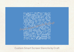 Seamless Easter Eggs SmartScreen Stencil - Reusable, Self Adhesive - Canvas, Cards, Glass, Ceramic, Fabric, Wood, Paper, Metal, Clay.