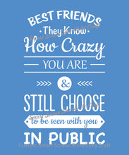 Load image into Gallery viewer, Best Friends Quote SmartScreen Stencil - Reusable, Self adhesive - Canvas, Cards, Glass, Ceramic, Walls, Fabric, Wood, Plastic, Metal, Clay