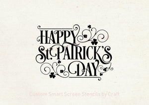Saint Patrick's Day SmartScreen Stencil - Reusable, Self adhesive - Canvas, Cards, Glass, Ceramic, Fabric, Wood, Plastic, Metal, Clay