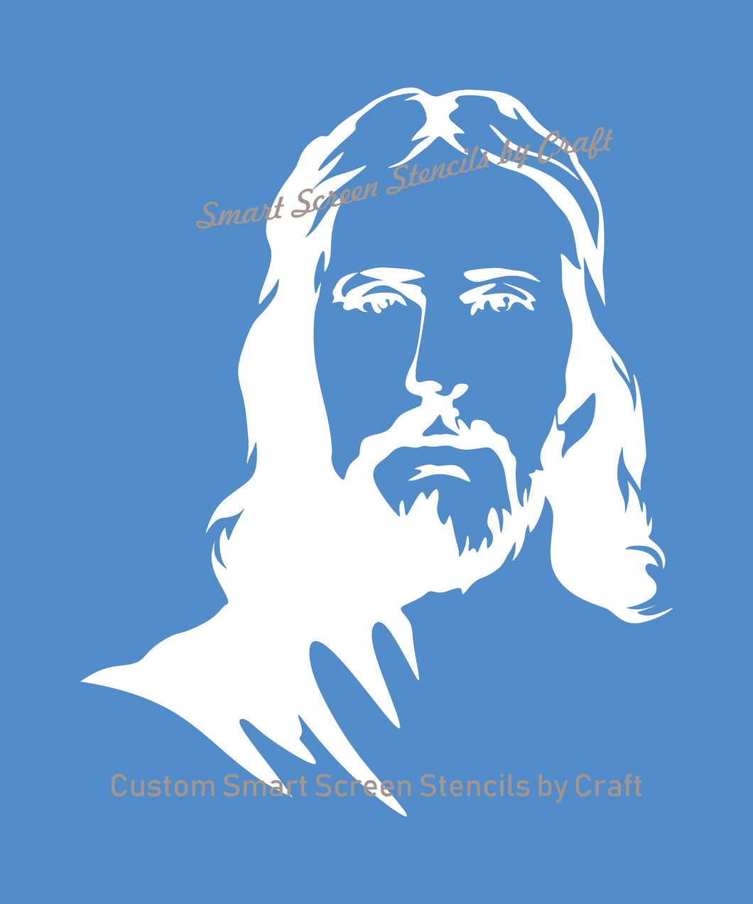 Jesus SilkScreen Stencil - Custom, Reusable, Self-adhesive - Canvas, Cards, Glass, Ceramic, Walls, Fabric, Wood, Metal, Tote-bags, Clay