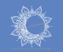 Load image into Gallery viewer, Mandala Sun Moon SilkScreen Stencil by Craft - Custom Reusable - Canvas, Cards, Glass, Ceramic, Tile, Walls, Fabric, Wood, Clay, Metal, etc.