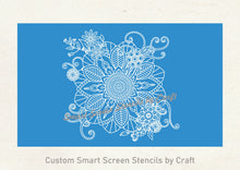 Load image into Gallery viewer, Floral Mandala Silk Screen Stencil - Reusable, Self Adhesive - Fabric, Paper, Stone, Glass, Clay, Tile, Wall, Metal, Textile, Plastic, etc.