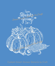 Load image into Gallery viewer, Thanksgiving Harvest SilkScreen Stencil - Reusable, Self-Adhesive - Tshirts, Ceramic, Tile, Glass, Wood, Fabric, Pillows, Cards, Clay, Metal