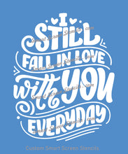 Load image into Gallery viewer, Fall in Love Everyday SmartScreen Stencil - Reusable, Self adhesive - Canvas, Cards, Glass, Ceramic, Fabric, Wood, Plastic, Metal, Clay