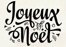 Load image into Gallery viewer, Joyeux Noel Christmas SilkScreen Stencil - Reusable, Self Adhesive - Cards, Fabric, Ceramics, Tile, Glass, Wood, Metal, Plastic, Paper, Clay