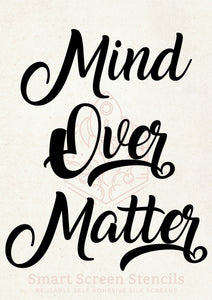 Mind Over Matter SmartScreen Stencil - Reusable, Self adhesive - Canvas, Fabric, Cards, Glass, Ceramics, Walls, Wood, Plastic, Metal, Clay