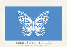 Load image into Gallery viewer, Butterfly 2 Silkscreen Stencil - Custom, Reusable, Adhesive - Canvas, Fabric, Cards, Glass, Ceramics, Tile, Wall, Wood, Plastic, Stone, Clay