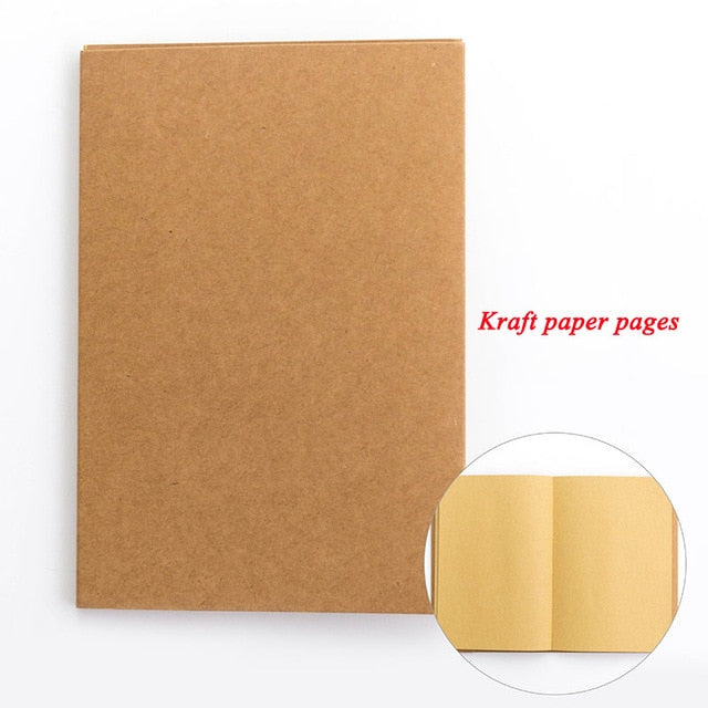 EZONE White/Kraft Paper Inner Page Notebook