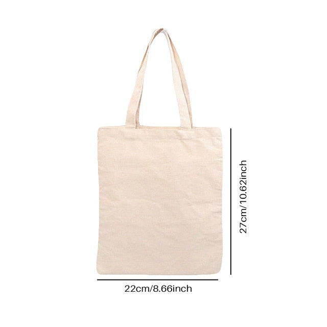 White Canvas Shopping Bags Eco Reusable Foldable