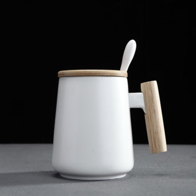 480ML Nordic New Design Simple White Black Ceramic Coffee Cup