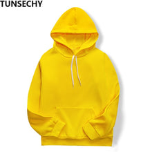 Load image into Gallery viewer, 2019 New Yellow/black/white Casual HOODIE