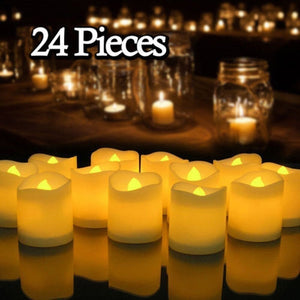 12/24Pcs Flameless LED Candles Tea Light
