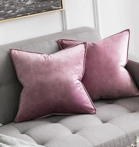 Luxury High Quality White Black Classic Soft Velvet Cushion Cover
