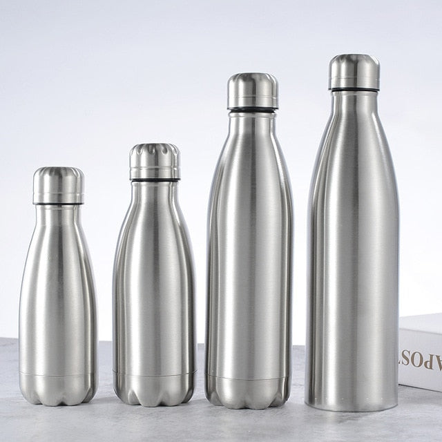 500/1000ml Stainless Steel Water Bottle Portable BPA free