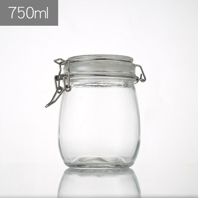 Mason Candy Jar for Spices Glass Transparent 100ml 500ml