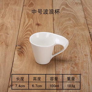 The latest European white ceramic bone china coffee cup 90ML/240ML