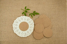 Load image into Gallery viewer, 100pcs Round Kraft Paper Tags