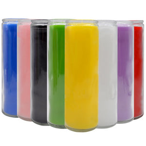 Colorful chakra rainbow 7-day candle 6.3x21cm