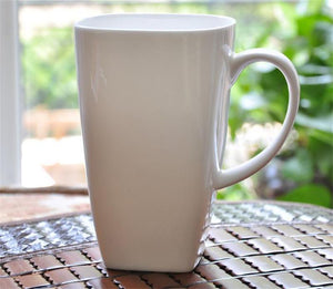 700ML, plain white bone china large tea mugs