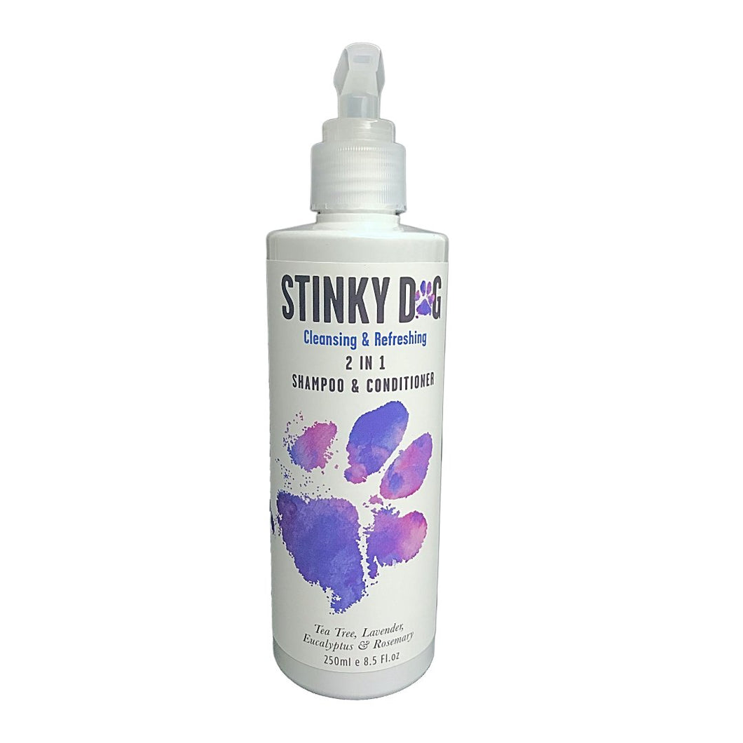 Stinky Dog Cleansing & Refreshing - 2 in 1 Shampoo/Conditioner 250ml