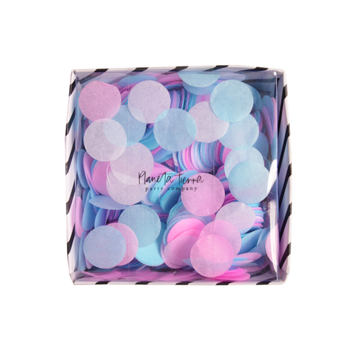 Caja Confetti Redondo - Gender Reveal