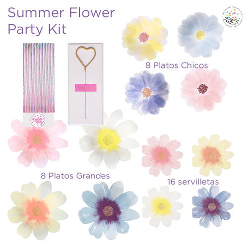 Summer Flower Party kit (8 personas)