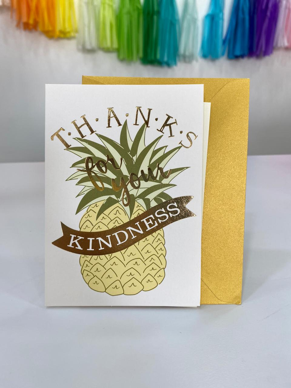 Tarjeta - Piña Thank for you kindness(1 pieza)
