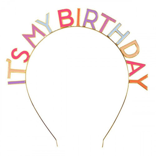 Tiara Its my Birthday - diadema pasteles (1 pieza)