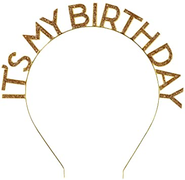 Tiara Its my Birthday - diadema GOLD (1 pieza)