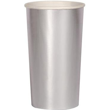 Beautiful - Vaso Alto Plata (8 piezas)