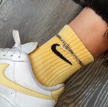 Load image into Gallery viewer, Cuban Link Swoosh Anklet