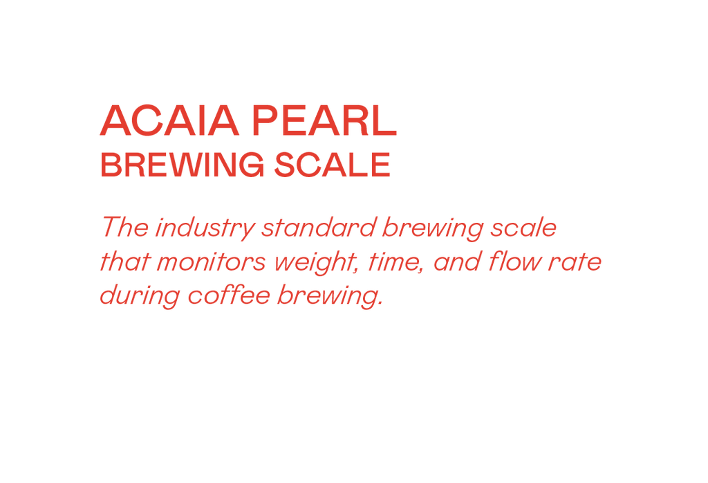 Acaia Pearl Brewing Scales (Black) - Grey Roasting Co