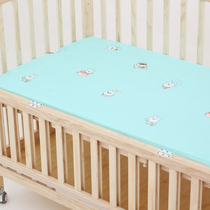 Newborn Baby Bed Mat 100% Cotton Crib Fitted Sheet Soft Baby Bed Mattress Cover Protector Cartoon Newborn Bedding For Cot sheets