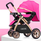 2019Multifunctional 3 in 1  Luxury Baby Stroller Folding stroller Light carrying belt Suit for  Lying and Seat