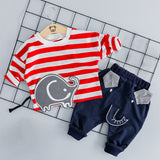 2019 Autumn Plaid Newborn Clothes Baby Boy Clothes For Boys Outfits Kids Suit Baby Costume Sets Infant Clothing 6 9 12 24 Month