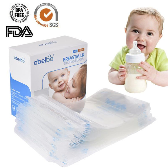 30 Pcs Breast Milk Storage Bag Mother Baby Supplies 200 ML Polyethylene Food Grade Maternal Baby Storage Milk Pouch