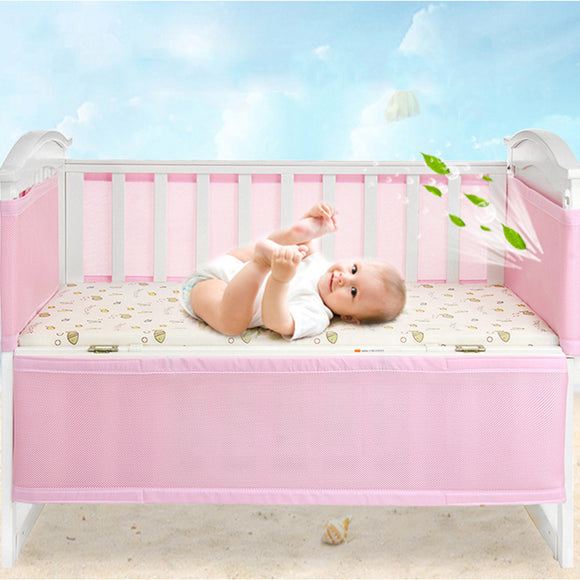Safety Guardrail Nursery Bedding Nursing Polyester Fiber Home Collision-Proof Detachable Crib Bumper Newborn Kids Breathable