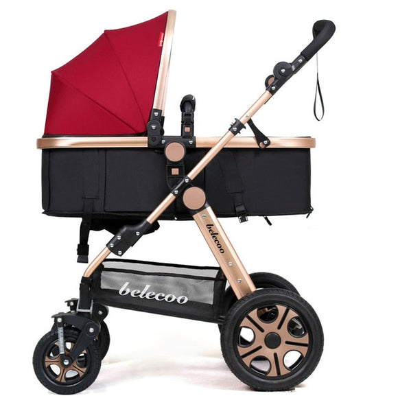 7.8 Belecoo Baby Stroller Comfortable Stroller And Bassinet FoldingBaby Pushchair Walking Strollers Prams