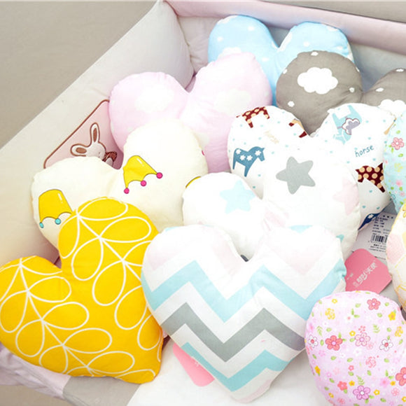 New Cute Baby Pillow Kids Baby Cushion Cotton Baby Room Decor Child Soft Newborn Bed Doll Gifts Baby Pillows Bed Pillow Toy