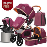 High landscape Baby Stroller Golden baby 3 in 1 Portable Folding Stroller 2 in 1 Luxury Carriage ree shipping