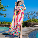 Long sunscreen clothing chiffon robes holiday clothes loose bikini blouse swimsuit outside take a seaside  sunscreen cool dress